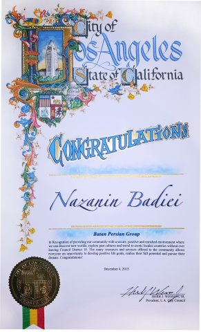 City of Los Angeles Certificate